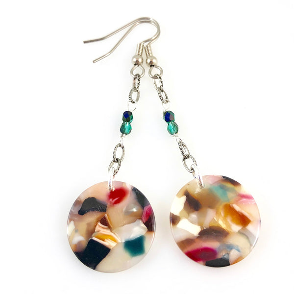 """Mosaic Drop"" Earrings"