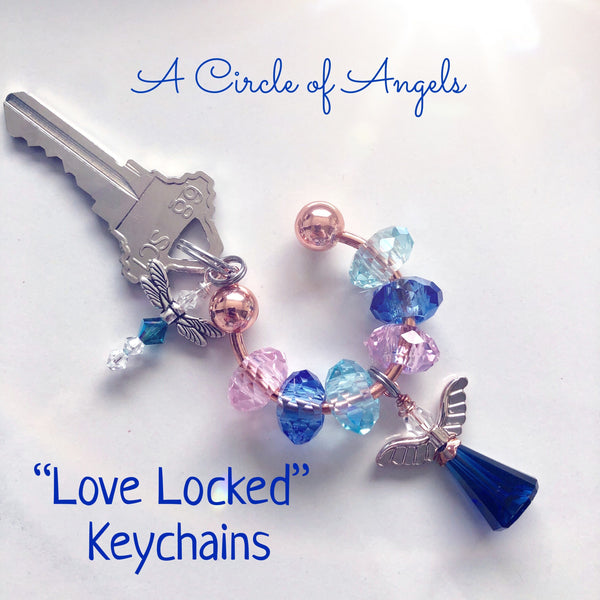 "A Circle of Angels ""Love Locked"" Keychains"