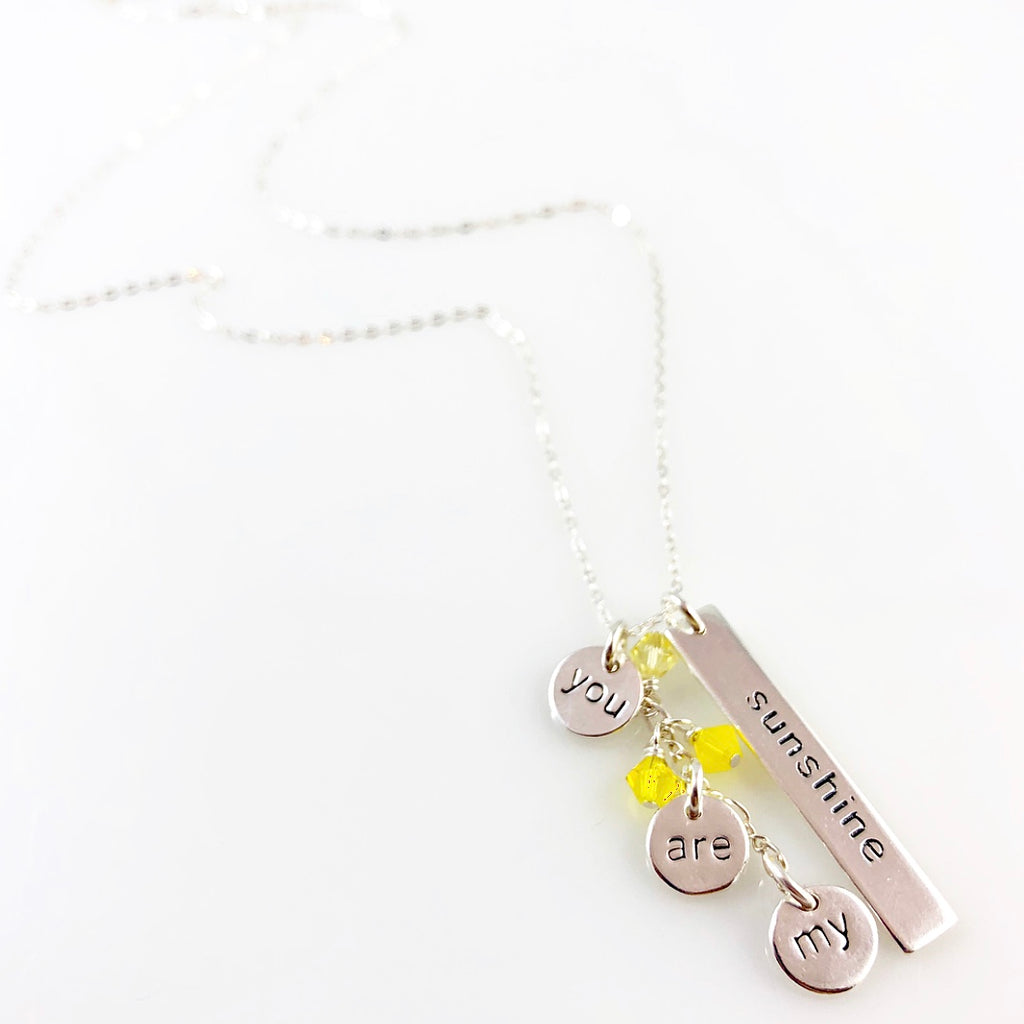"""Heart Speak"" Necklaces (You are my Sunshine)"