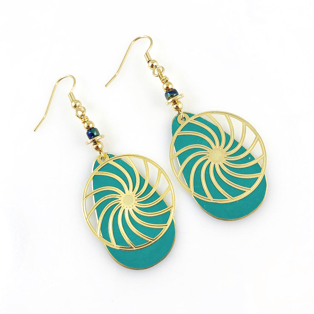"""Swirls of Summer"" Earrings (various colours)"