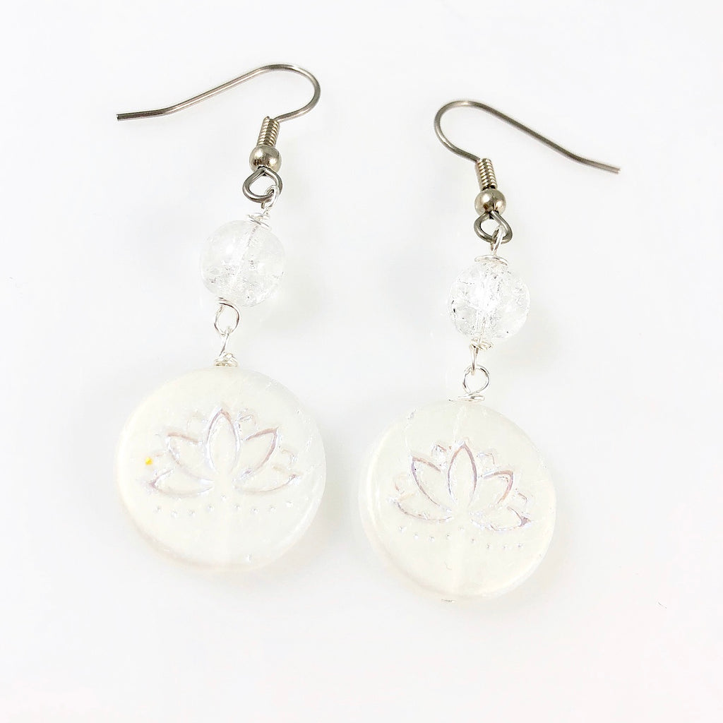"""White Lotus"" Earrings"