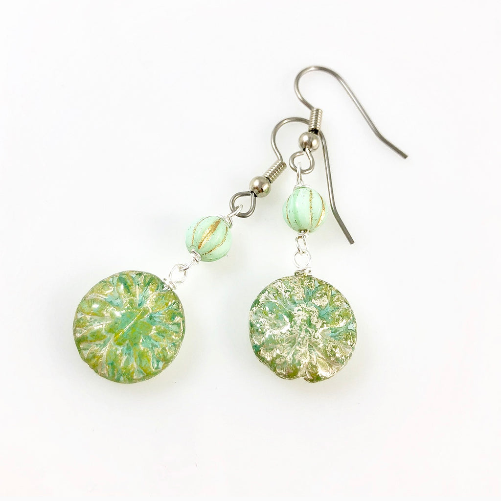 """Vintage Beleaf"" Earrings"