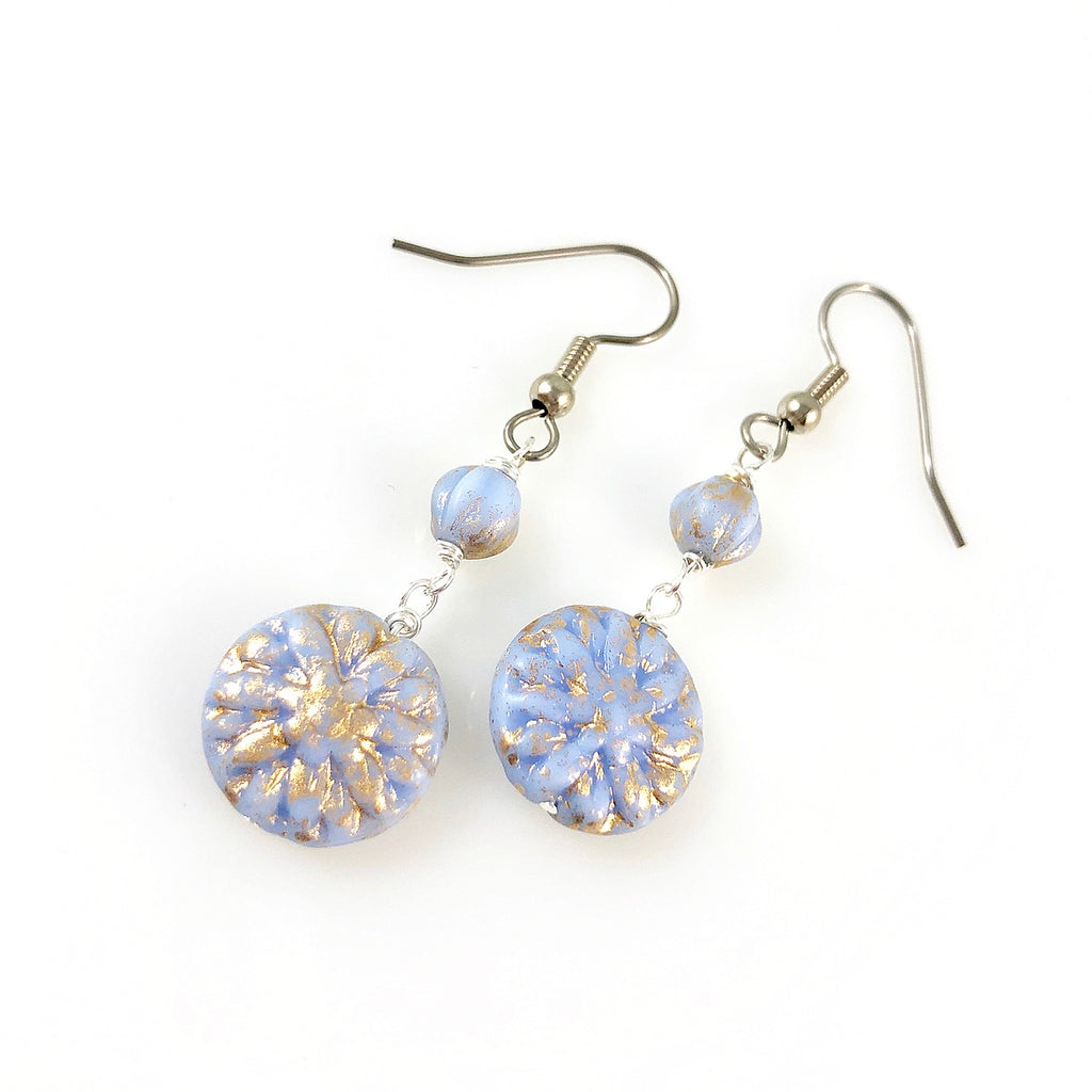 """Vintage Periwinkle"" Earrings"