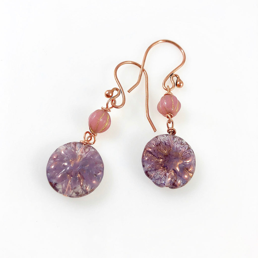 """Vintage Plum"" Earrings"