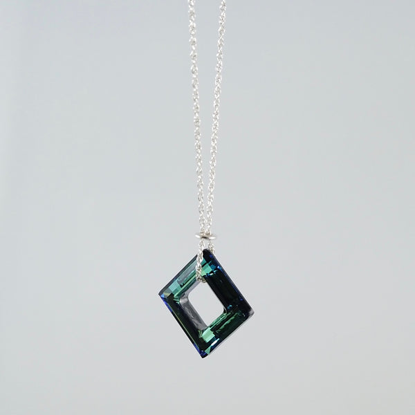 """Twinkle"" Jewel Square Necklace"