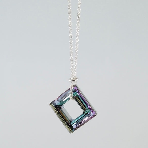"""Twinkle"" Pastel Square Necklace"