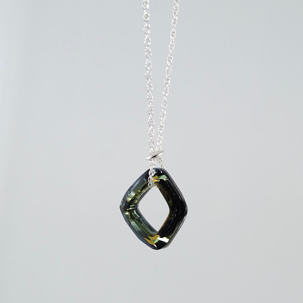 """Twinkle"" Olive Twist Necklace"