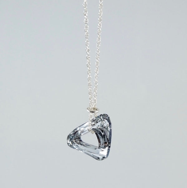"""Twinkle"" Silver Triangle Necklace"