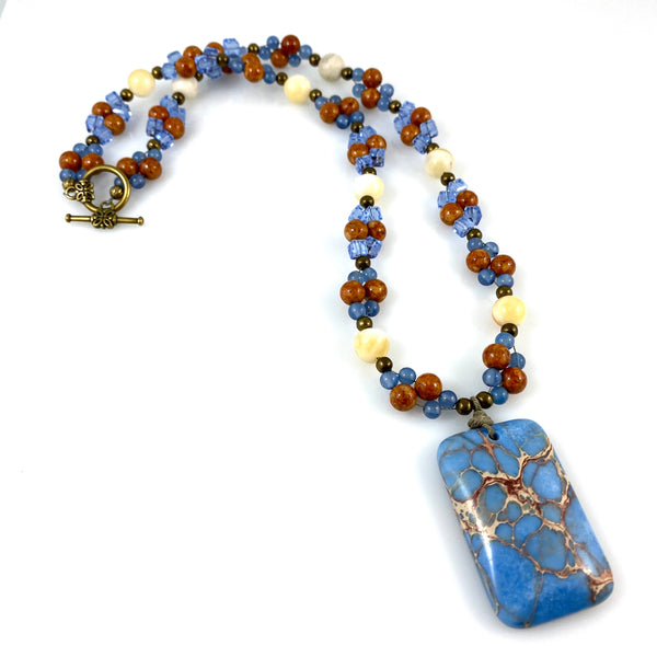 """Blue Sky Land"" Necklace"