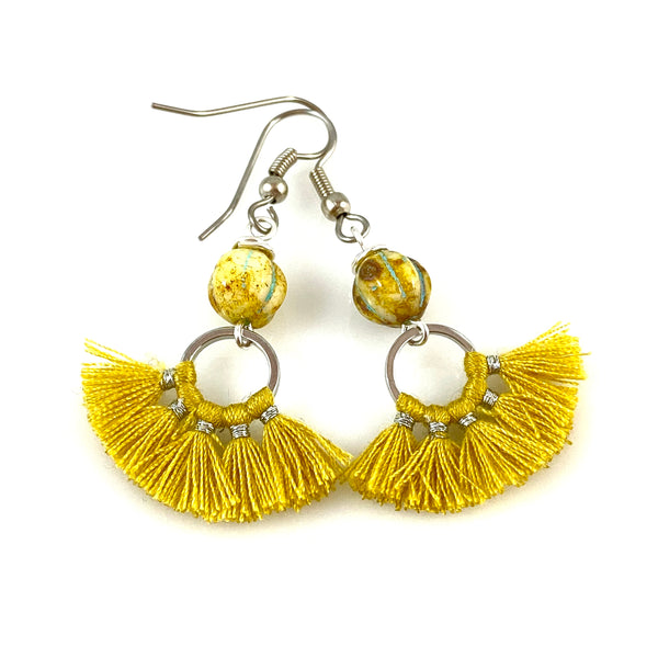 """Little Fan Tassel"" Earrings"