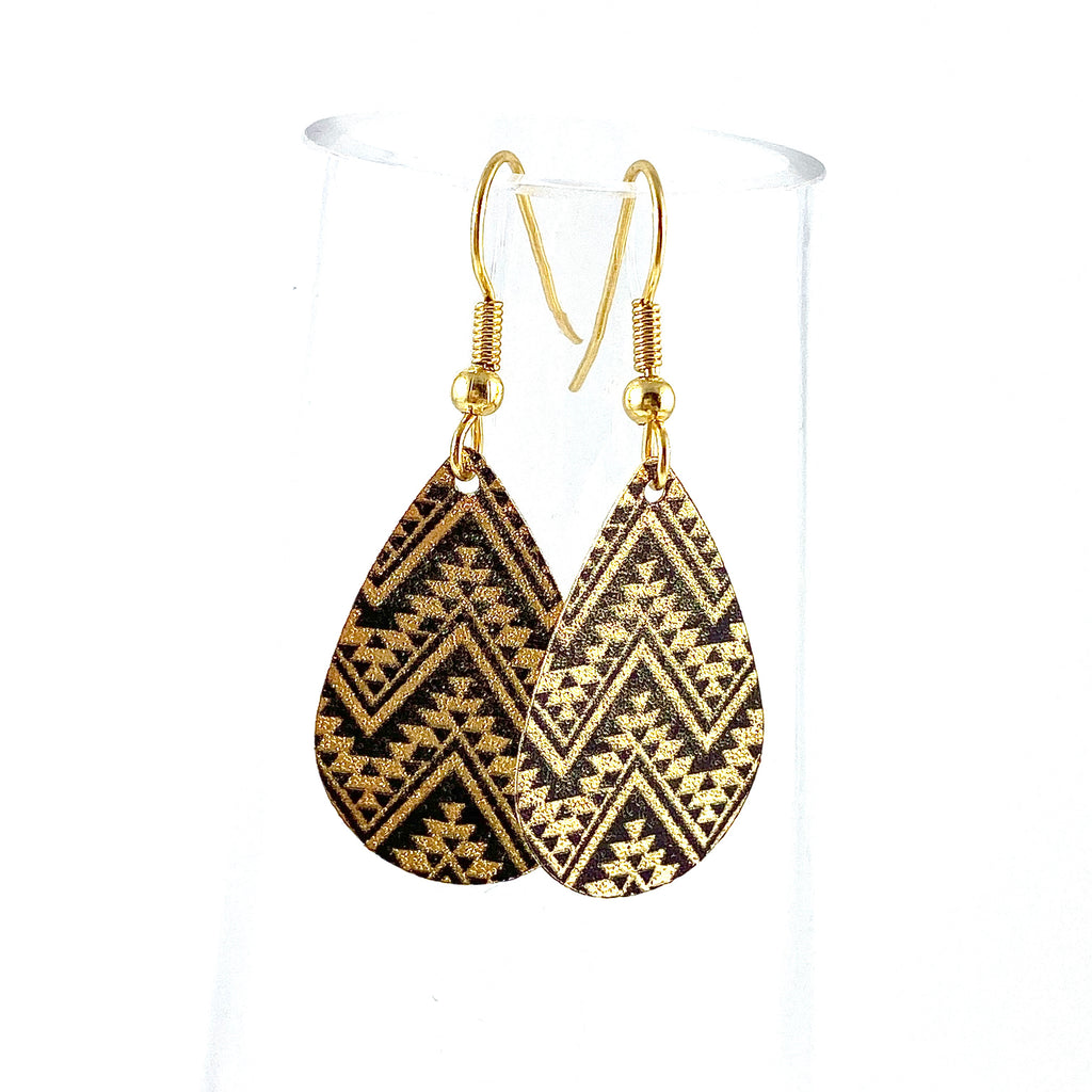 """Mosaic Teardrop"" Earrings"