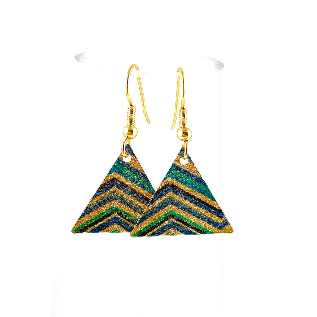 """Mosaic Triangle"" Earrings"