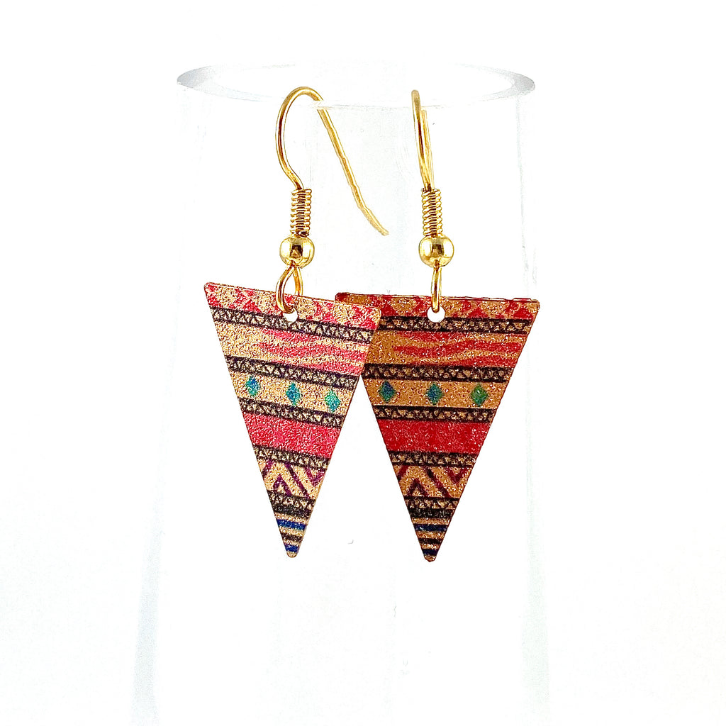 """Mosaic Arrowhead"" Earrings"