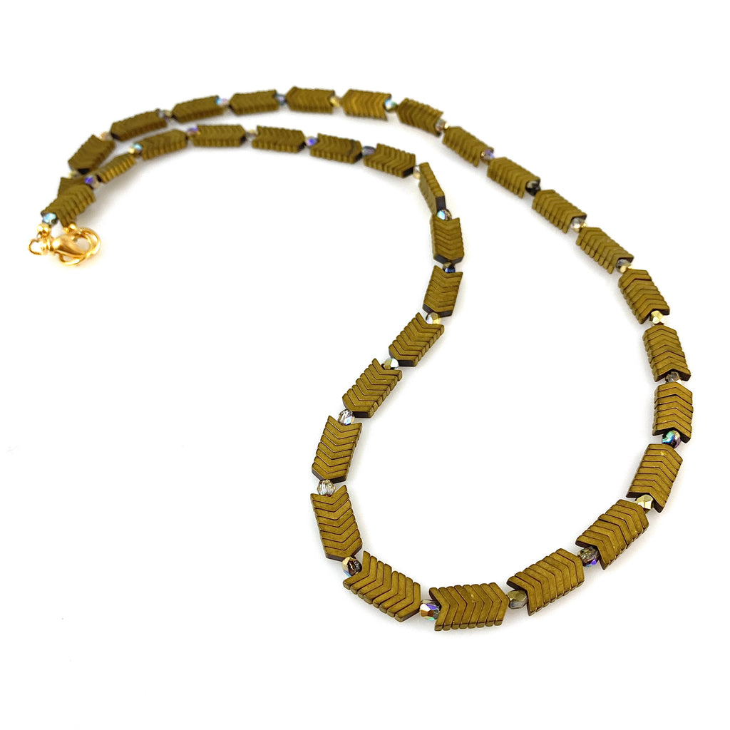 """Gold Train"" Necklace"
