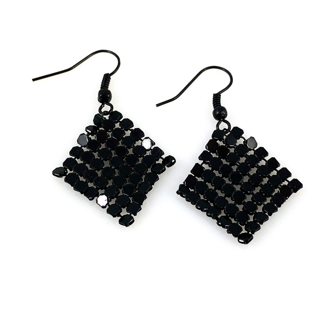 """Jerica"" Earrings (black)"