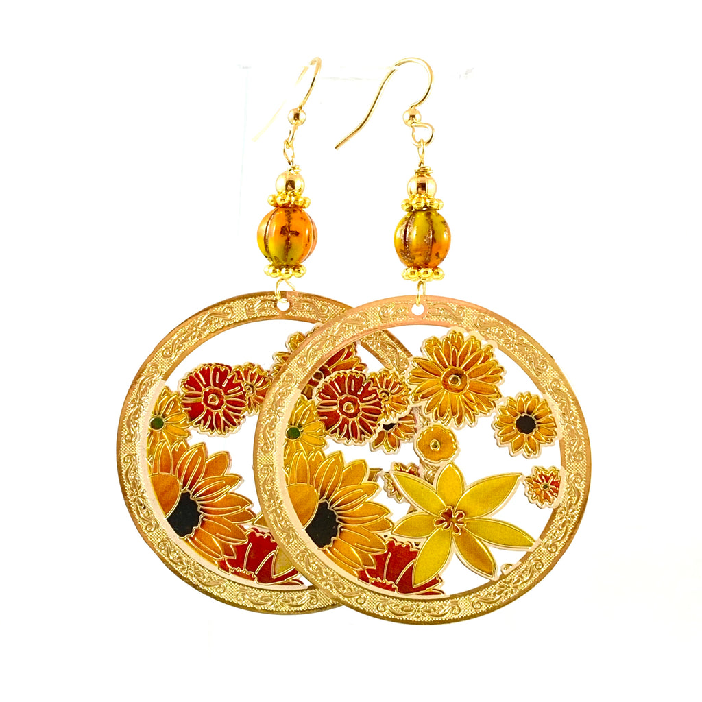 """Boho Beauty"" Earrings (Sunshine)"