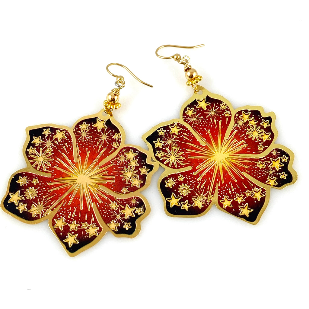 """Boho Beauty"" Earrings (Sun Star)"