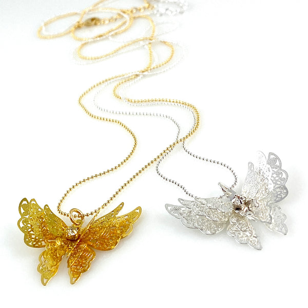 """Flutterby"" Necklaces"