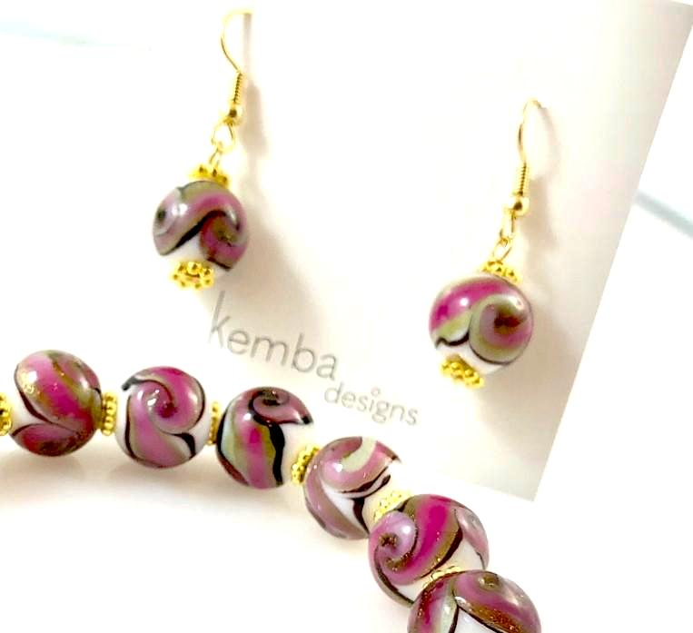 """Pink Sands"" Earrings"