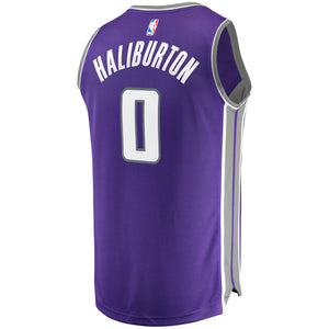 Mens FastBreak Purple Replica Jersey - Icon Jersey - Haliburton 0