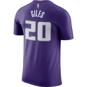 Men's Nike Name & Number Tee Purple Giles- 20