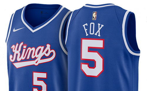 Exclusive - Sacramento Kings Nike Swingman Hardwood Classic Jersey - Fox 5 - Royal