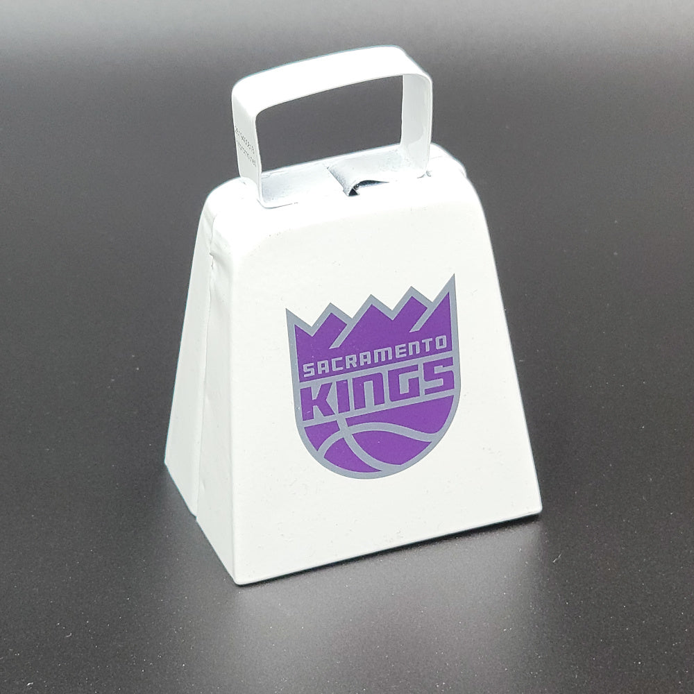 Sacramento Kings Team Logo Cow Bell-White