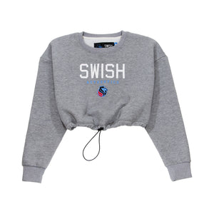 Exclusive - Womens SWISH CE Cropped Crew Pullover - Gray