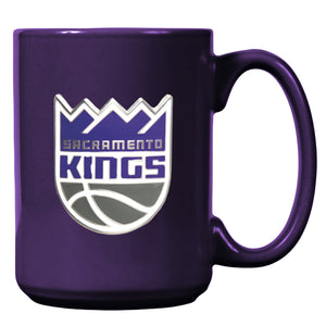 Sacramento Kings Classic Mug with Metal Emblem - Purple