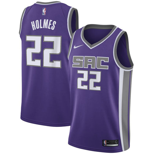Men's Nike Purple Swingman Jersey - Icon Edition - Holmes 22