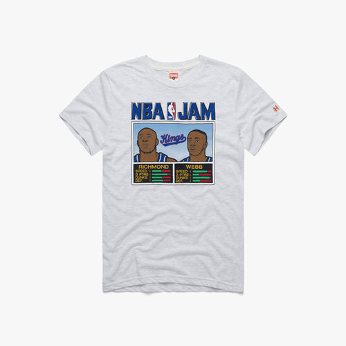 Mens NBA Jam Tee - Richmond/Web - White Hthr