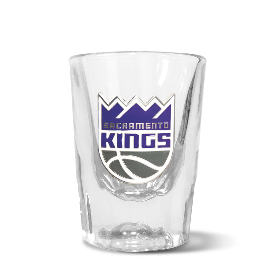 Sacramento Kings Prism Shot Glass with Metal Emblem