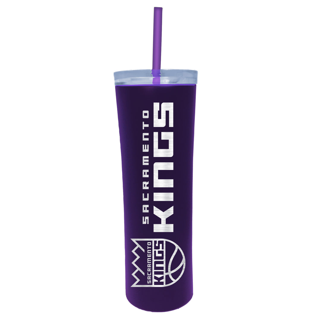 Sacramento Kings 18oz Skinny Tumbler w/ Straw - Purple