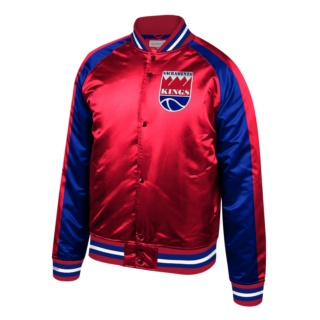 Men's Mitchell&Ness Classic Satin Jacket - Red/Blue