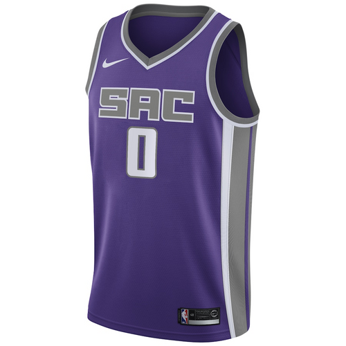Men's Nike Purple Swingman Jersey - Icon Edition - Haliburton 0