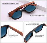 Natural Wooden Sunglasses by KINGSEVEN