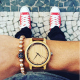 His or Hers Bamboo Wood Watch with Leather strap from BOBO BIRD