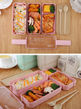 3 Layers Wheat Straw Lunch Box