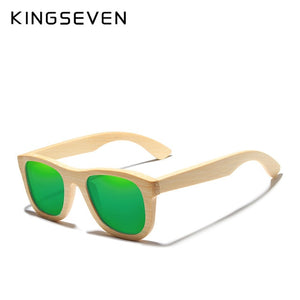 KINGSEVEN 2019 Retro Bamboo Sunglasses for Men & Women