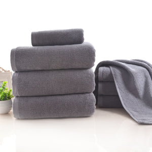 Natural Cotton Luxury Grey Towels