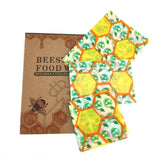 Green & Yellow Beeswax Food Wrap with hexagonPattern