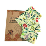 Cream Beeswax Food Wrap with Flower Pattern