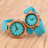 Royal Blue Wood Watch for Him or Her