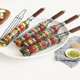 BBQ Stainless Steel Non-stick Barbecue Grill Basket