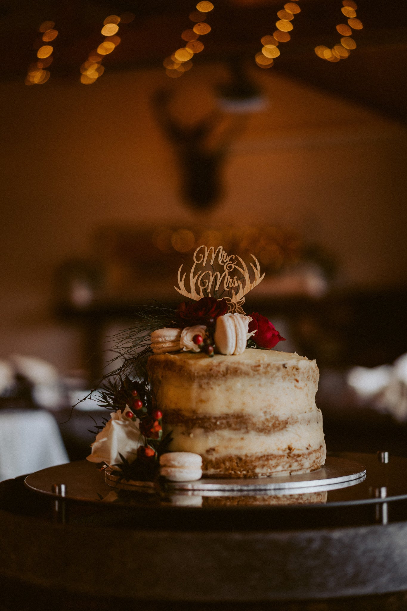 Lily + Josh | Rustic Buttercream Cake | Cake Topper | The Paper Gazelle Wedding Feature