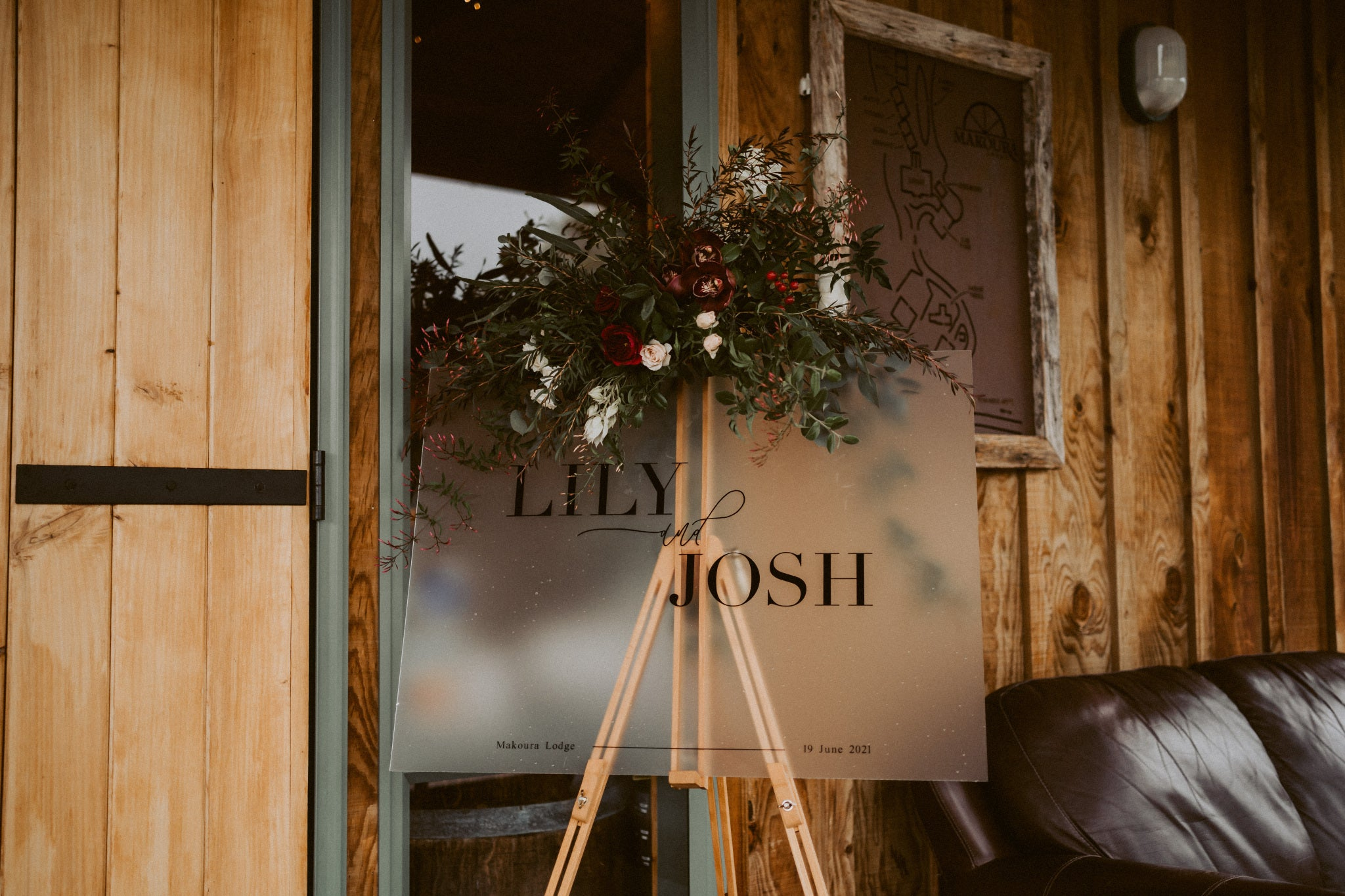 Lily + Josh | Wedding Frosted Acrylic Welcome Sign | The Paper Gazelle Wedding Feature