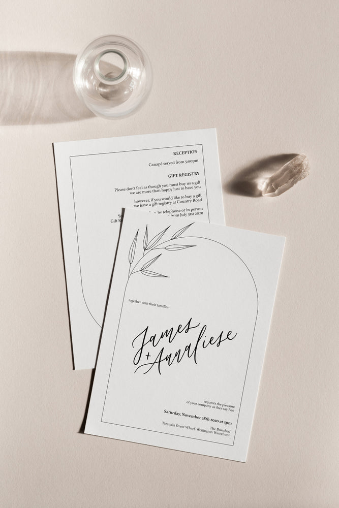 Curve 3-Piece Invitation Suite