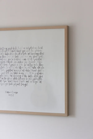 Watercolour Vows / Lyrics Custom Wall Art