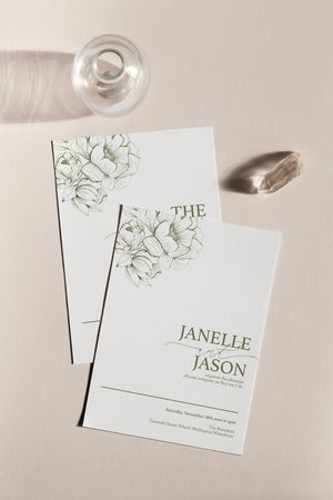 Peony 3-Piece Invitation Suite