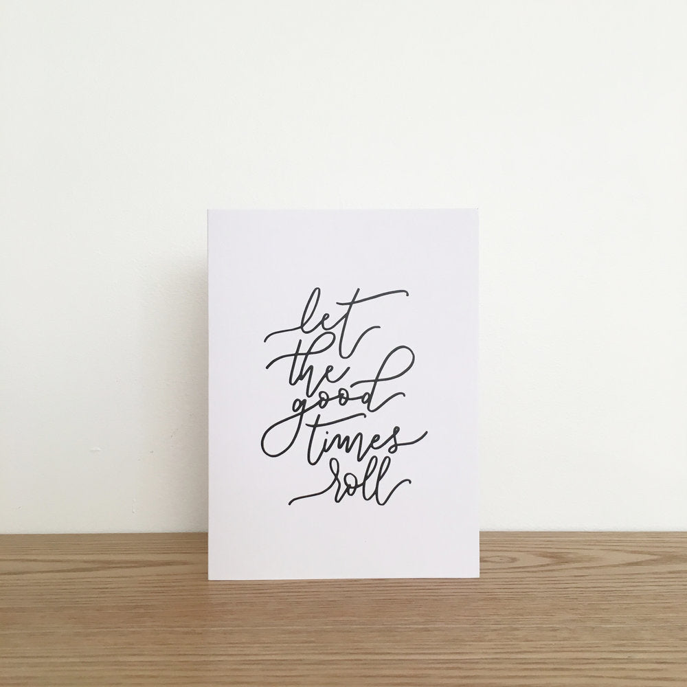 'Let the Good Times Roll' Blank Card